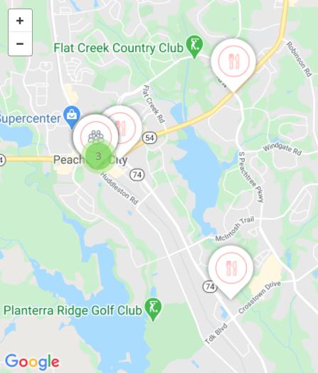 Map Peachtree City