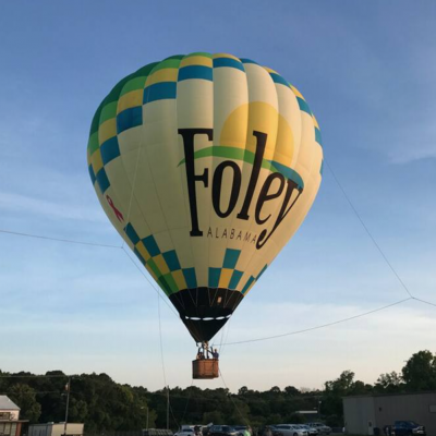 Taking Off Hot Air Balloon Co.